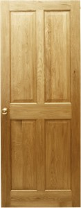 4 panel solid oak door
