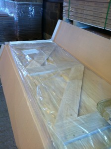 oak door care - protective packaging