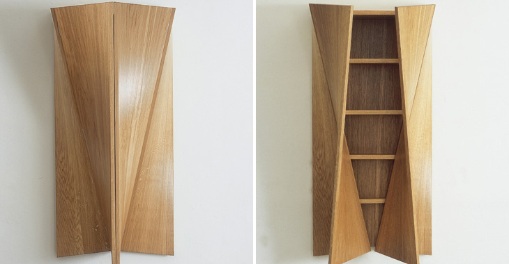 Twisted Oak Cabinet