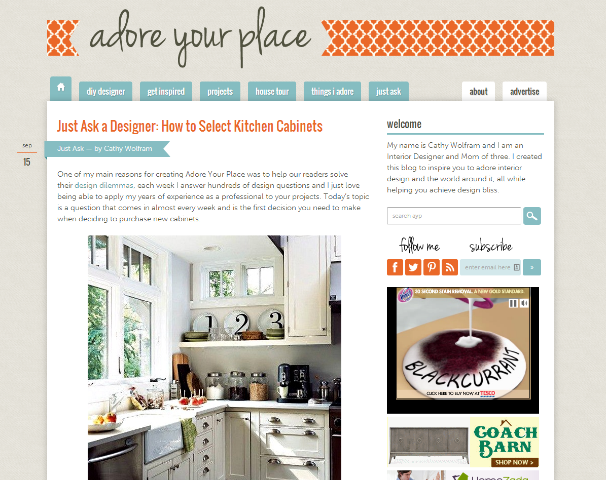Picture of Adore Your Place blog