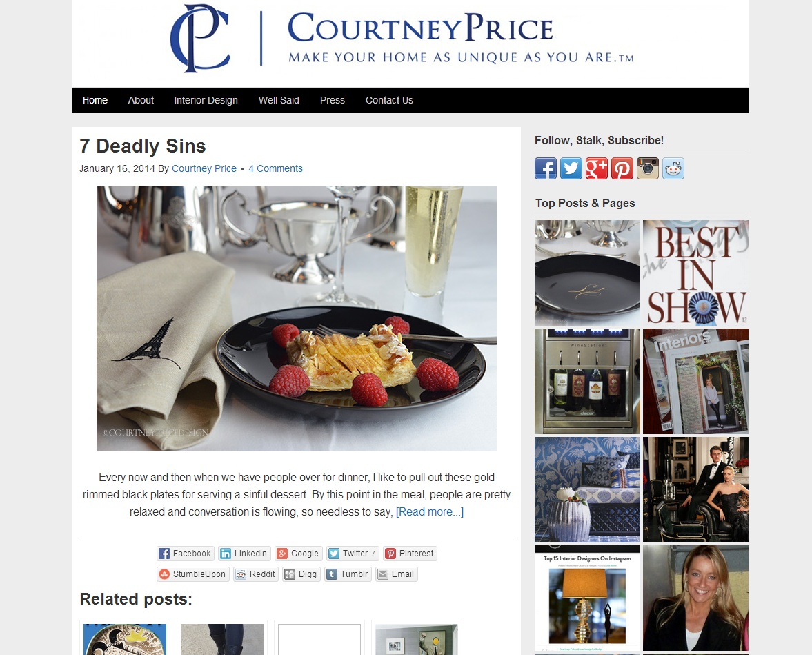 Picture of Courtney Price blog