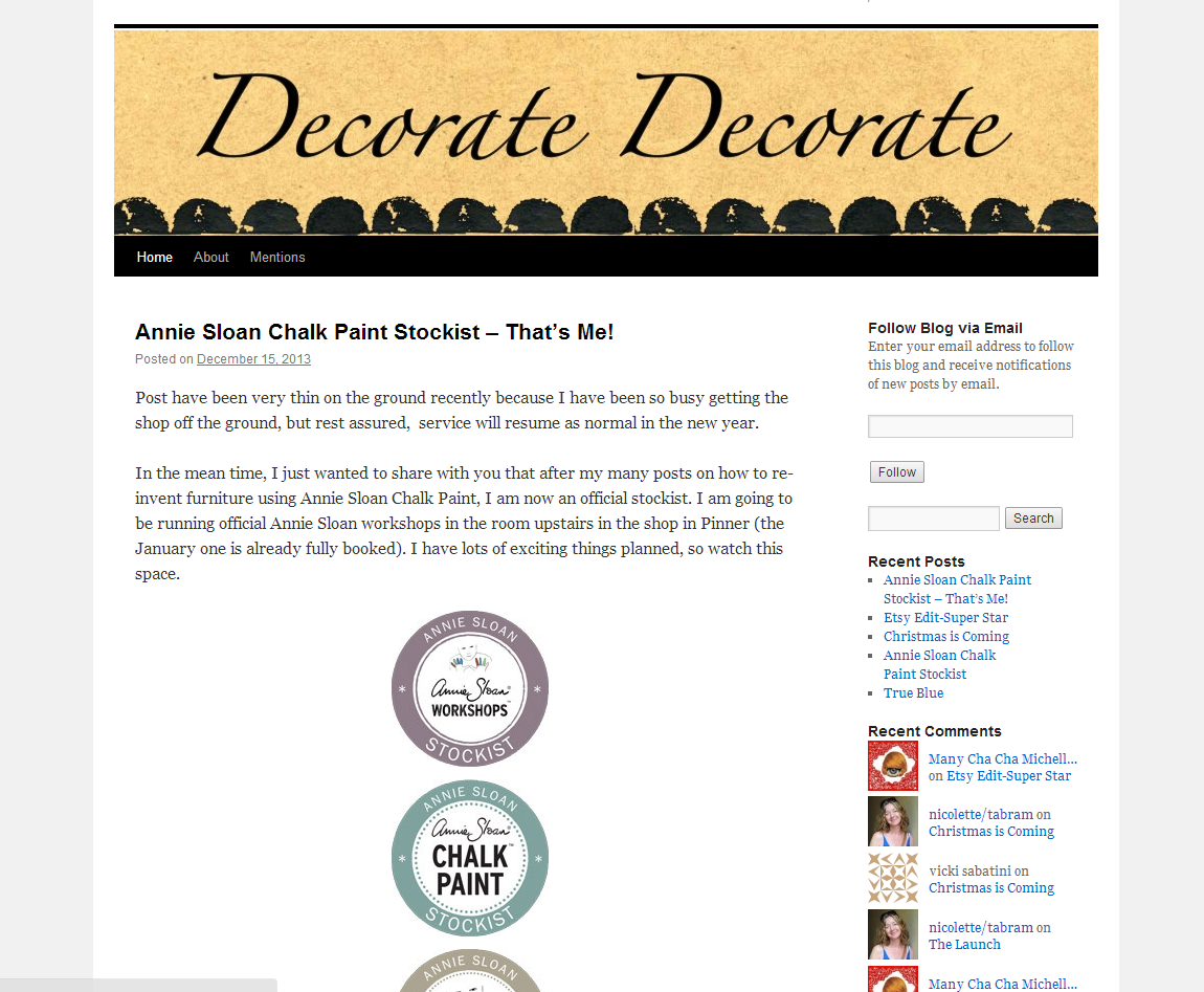 Picture of Decorate Decorate blog