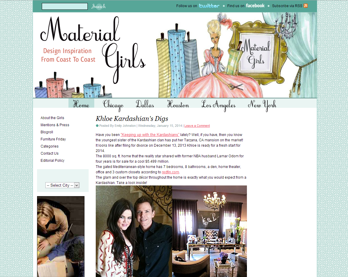 picture of Material Girls blog