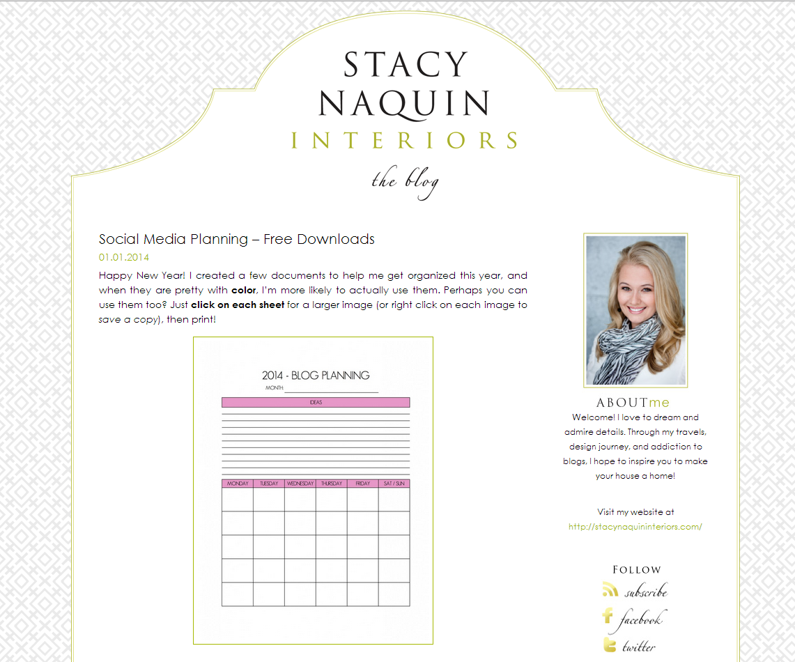 Picture of Stacy Naquin Interiors blog