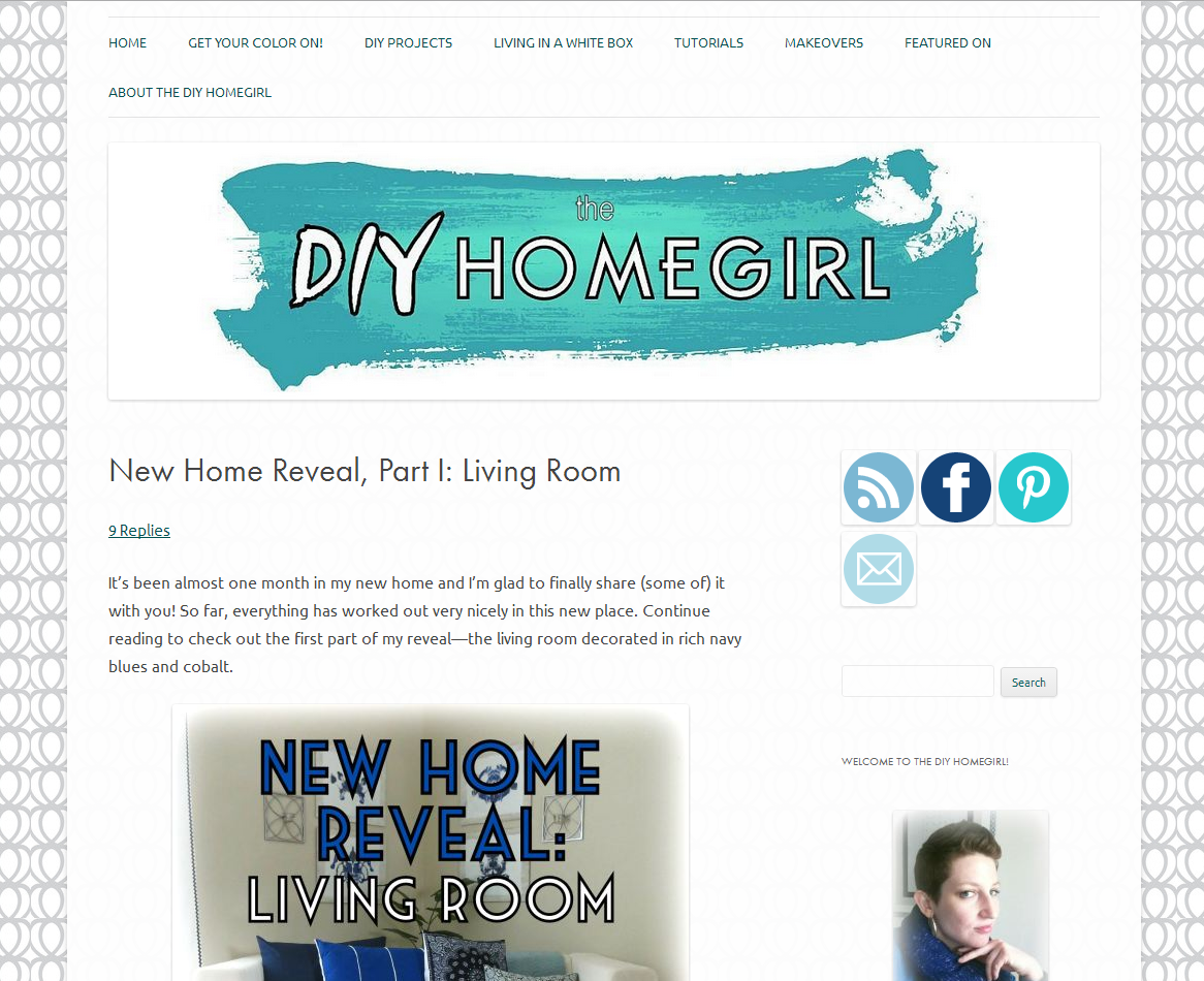 Picture of The DIY Homegirl blog