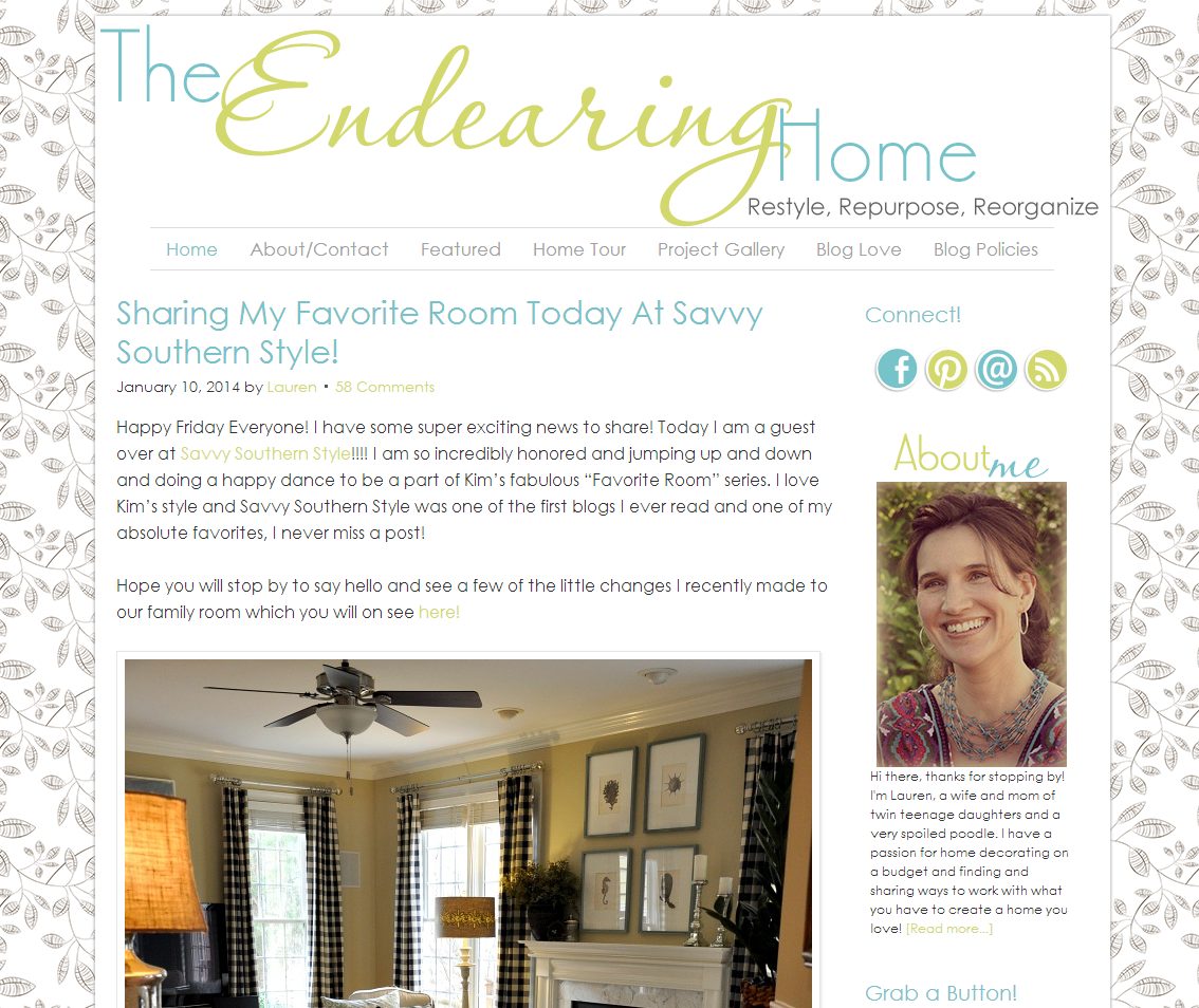 Picture of The Endearing Home blog