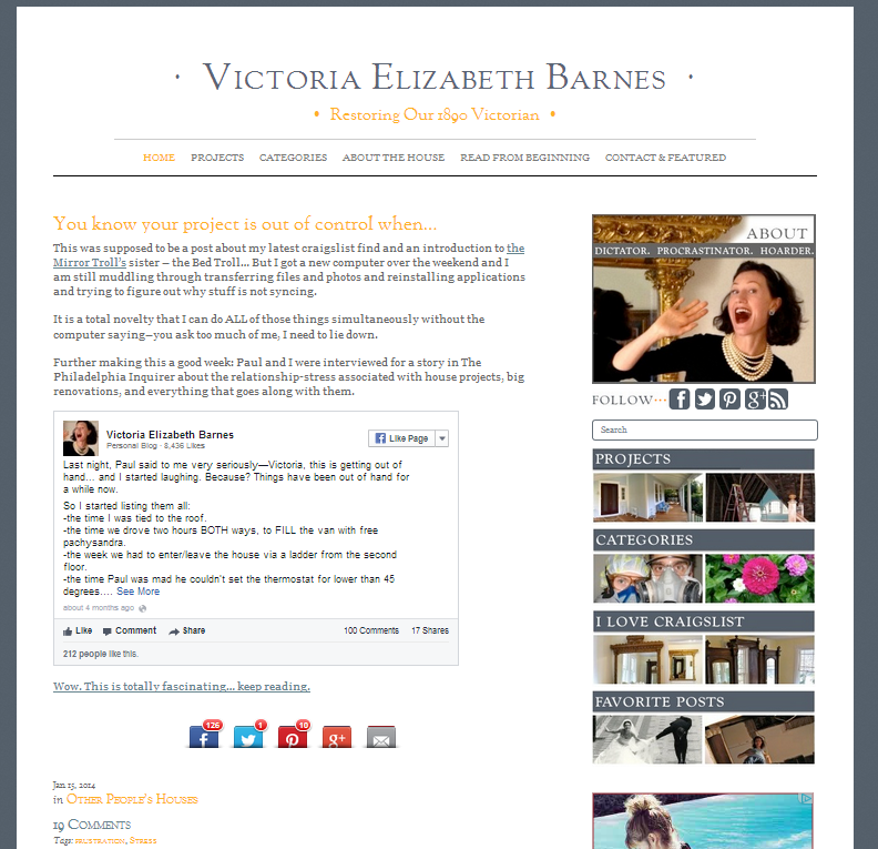 Picture of Victoria Elizabeth Barnes blog