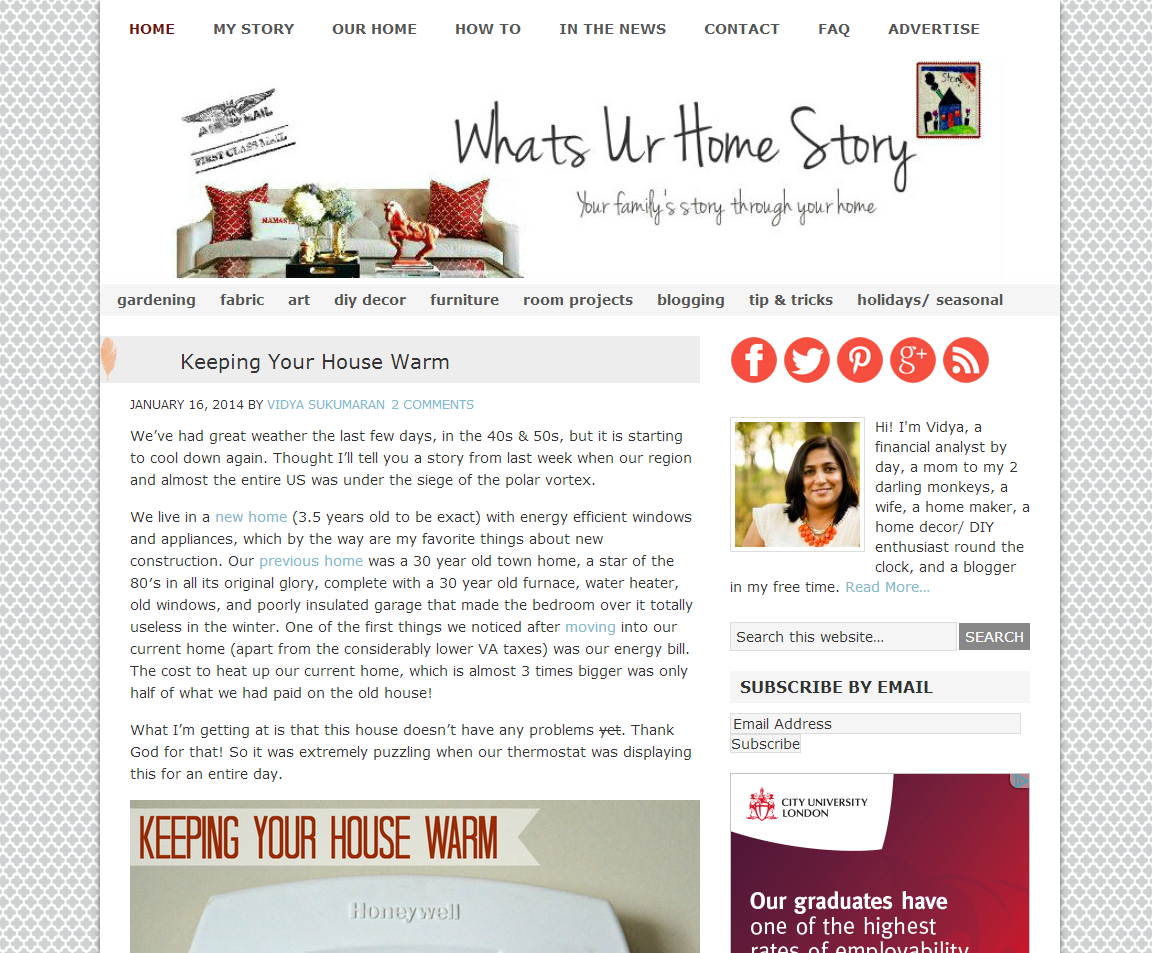 Picture of Whats Ur Home Story blog