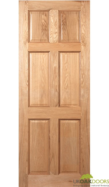 Victorian Six Panel Oak Fire Door